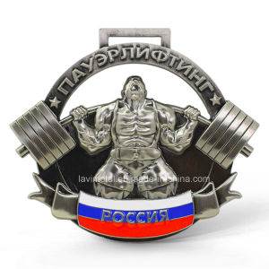 Custom Cheap 3D Design Weightlifting Gold Medal pictures & photos