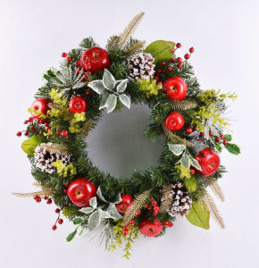 Hand-Made Fake 24′′ Christmas Wreath for Home & Office Decoration pictures & photos