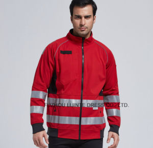 2017 Waterproof Softshell Jacket with Reflective Tape Workwear pictures & photos