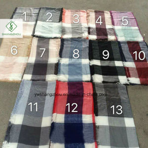 Hot Sale Cashmere Shawl Lady Fashion Square Plaid Scarf 100% Acrylic pictures & photos