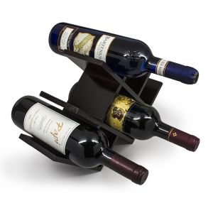 Wine Rack Butterfly Stores 8 Bottles Minimal Assembly Dark Mahogany pictures & photos