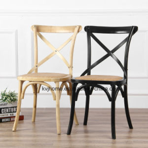 Hot Sale Solid Wood Cross Back Dining Chair pictures & photos