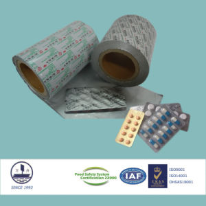 0.030mm Thickness Pharmaceutical Ptp Aluminum Foil for Packaging Granules Alloy 8011 pictures & photos
