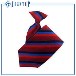 100% Silk Casual Style Stripes Fashion Men′s Clip Tie pictures & photos