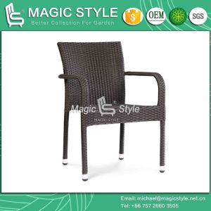 Rattan Dining Chair for Hotel Project Chair Stackable Chair Outdoor Wicker Chair Dining Chair with Armrest pictures & photos