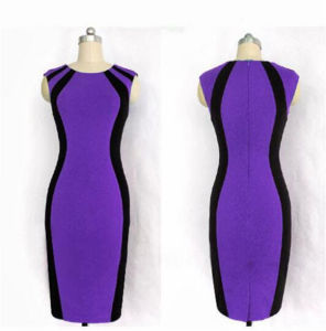 Women High Quality Cotton Tight Office Lady Pencil Dress (Dress 122) pictures & photos