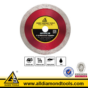 Hot Pressed Diamond Continuous Rim Saw Blade for Cutting Ceramic pictures & photos