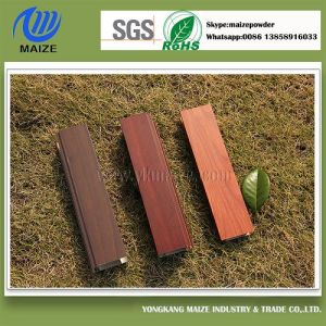 Recyclable Wood Grain Aluminium Profile Powder Coating pictures & photos
