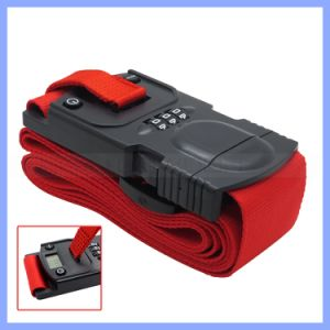 Travel Luggage Strap with Scale Function Ployester Material Luggage Belt with Lock pictures & photos