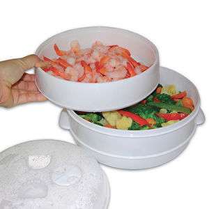 White Seriesof Convenient Microwave Steamer pictures & photos
