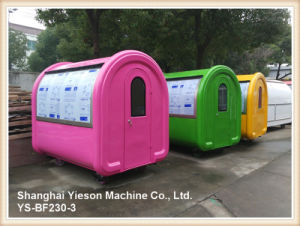 Ys-Bf230-3 Colorful High Quality Crepe Cart Food Kiosk Ice Cream Cart for Sale pictures & photos