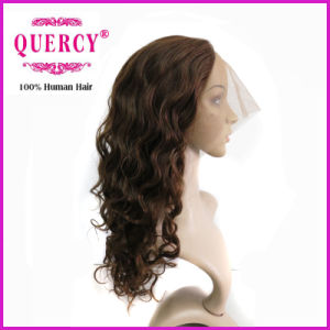 New Arrival Good Price Malaysian Human Hair Style Lace Front Water Wave Wig (WW-066b) pictures & photos