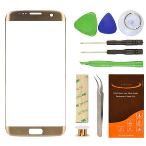 Top Quality Cheap Price Lens Replacement Mobile Phone LCD TFT Screen Gold Lens for Samsung S7 Edge pictures & photos