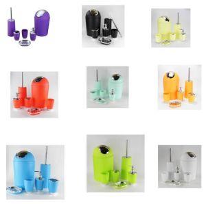 Jns-01 Houseware and Home Plastic Six Pieces Bath Accessory Set pictures & photos
