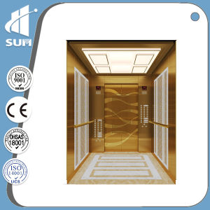 Speed 1.5m/S Mirror Etching Stainless Steel Passenger Elevator pictures & photos