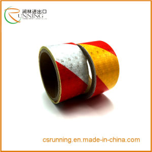 China Supplier PVC Safety Caution Reflective Adhesive Tape Reflective Film pictures & photos