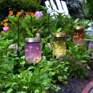 Hot Summer Gift Tree or Patio Decoration Portable Solar LED Light Firefly Jar pictures & photos