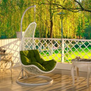 Modern Leisure Dia5.0 Round Rattan Patio Home Hotel Office Hanging Chair (J810) pictures & photos