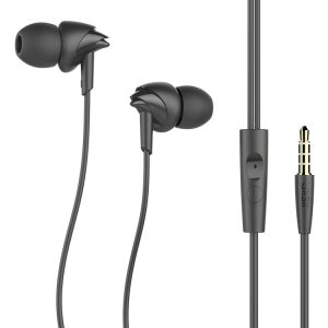 in-Ear Sport Earbuds with Mic Passive Noise Cancelling Earphones Stereo Bass Headset pictures & photos