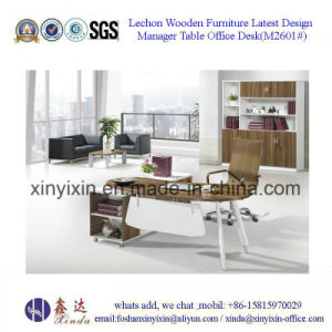 China Wooden Furniture Modern Melamine Executive Office Table (D1624#) pictures & photos