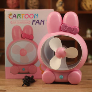 Wholesale Cute Rabbit Universal Mute USB Charging Fan pictures & photos