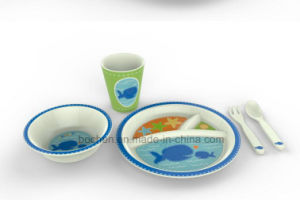 BSCI Audit Bamboo Fiber Tableware Kids Dinnerware Set (BC-BB-SU2011) pictures & photos