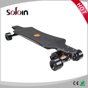 2 Motor Carbon Fiber Self Balance Skateboard 4 Wheel Electric Motorcycle (SZESK005) pictures & photos