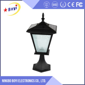 Grey and Black Outdoor LED Solar Power Garden Light pictures & photos