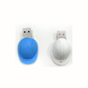 Motor Vehicle Safety Helmet Shape USB Flash Drive Customized Logo 256GB pictures & photos