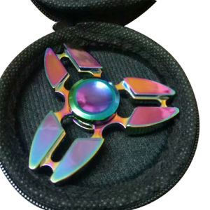 2017 Top Selling Metal Fidget Spinner Hand Toys (FS017-01G) pictures & photos