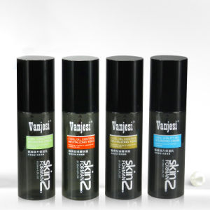 Black Color Pet Pump Lottion Bottle with Cap 100ml pictures & photos