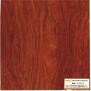 Red Walnut Woodgrain Laminated Paper for Decorative pictures & photos