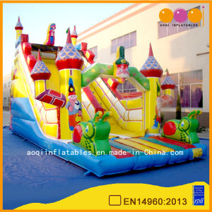 Cartoon Theme Inflatable Toy 7 Meters High Yellow Castle Slide for Kids (AQ09182) pictures & photos