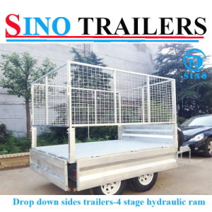 Drop Down Side Galvanized Tipping Trailer for Farm pictures & photos