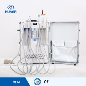 Portable Dental Unit with 550W Built-in Air Compressor Medical Instrument Dental Equipment pictures & photos