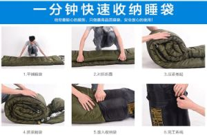 Tactical Military Outdoor Camping Travelling Alpine Warm Inner Eidendown 4-Seasons Sleeping Bag pictures & photos