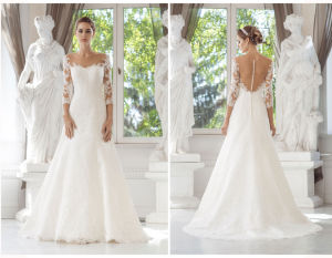 Long Sleeve Soft and Flowing Wedding Dress pictures & photos
