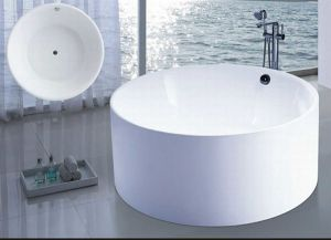 Dia1400mm Round Freestanding Modern Bathtub (AT-6201) pictures & photos