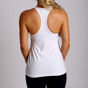 Women Y Back Tank Top, Polyester Elastane Gym Singlet (A846) pictures & photos