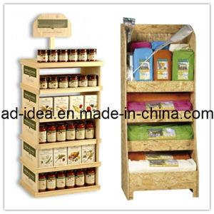 Printed MDF Flooring Display Shelf Bracket Stand pictures & photos