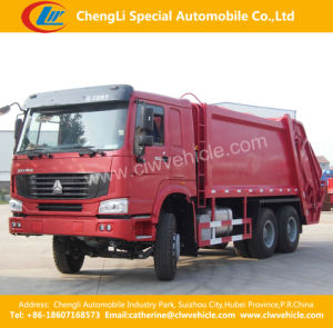 6X4 HOWO 300HP Hydraulic Compactor Garbage Truck pictures & photos