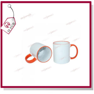 11oz Inner Color Orange Mug for Sublimation by Mejorsub pictures & photos