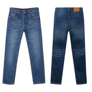 Fashion 5 Pockets 100% Cotton Men′s Jean Pants pictures & photos