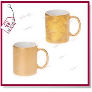 11oz Golden Ceramic Mugs by Mejorsub pictures & photos