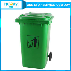 Suzhou Supplier of Green 240L Outdoors Dustbin with Wheel pictures & photos