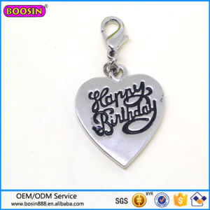 Custom High Quality Zinc Alloy Heart Shape Logo Charm Wholesale pictures & photos