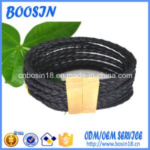 Factory Custom Braded Leather Bangle for Men pictures & photos