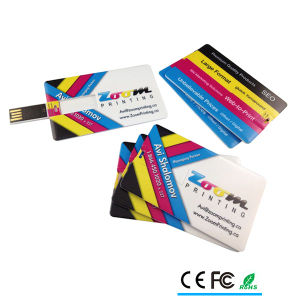 Custom Full Color Printing Credit Card USB for Promotional Gift pictures & photos
