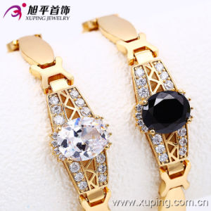 Fashion 18k Gold Color Luxury Inlayed Stones Watch Bracelet (73617) pictures & photos