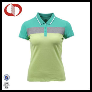 Three Colors Free Printing Custom Ladies Polo T Shirt pictures & photos